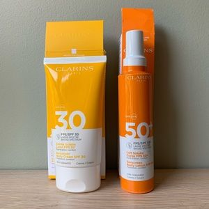 2 New & Sealed Clarins Body Sunscreens SPF 30 & 50